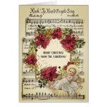 Baby Jesus in Manger Christmas Floral Sheet Music