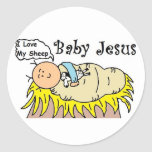 Baby Jesus In Manger Sticker