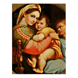 Baby Jesus in Mary's Arms Postcard