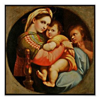 Baby Jesus in Mary's Arms Poster
