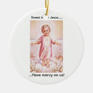 baby_jesus.jpg Double-Sided ceramic round christmas ornament