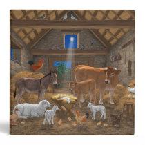 Baby Jesus Manger Holy Night Christmas Nativity 3 Ring Binder