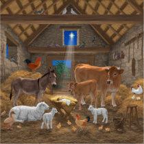 Baby Jesus Manger Holy Night Christmas Nativity Sticker