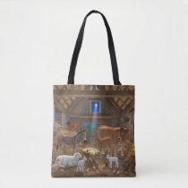 Baby Jesus Manger Holy Night Christmas Nativity Tote Bag