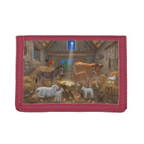 Baby Jesus Manger Holy Night Christmas Nativity Trifold Wallet