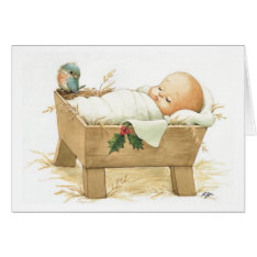 Baby Jesus Merry Christmas Greeting Card at Zazzle