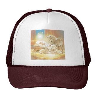 Baby Jesus Nativity with Lambs and Donkey Hat