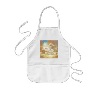 Baby Jesus Nativity with Lambs and Donkey Kids' Apron
