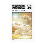 Baby Jesus Nativity with Lambs and Donkey Postage