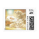 Baby Jesus Nativity with Lambs and Donkey Stamp