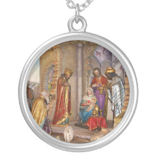 Baby Jesus of Nazareth Born in Bethlehem Silver Plated Necklace