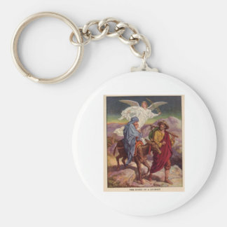 Baby Jesus on his way to Egypt Basic Round Button Keychain