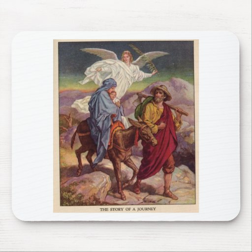 Baby Jesus on his way to Egypt Mouse Pad