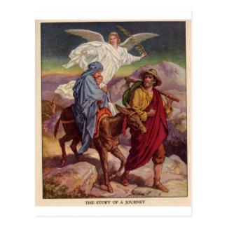 Baby Jesus on his way to Egypt Postcards