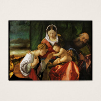 Baby Jesus Saint Catherine and Mary Business Card
