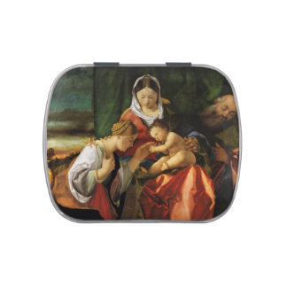Baby Jesus Saint Catherine and Mary Jelly Belly Tins