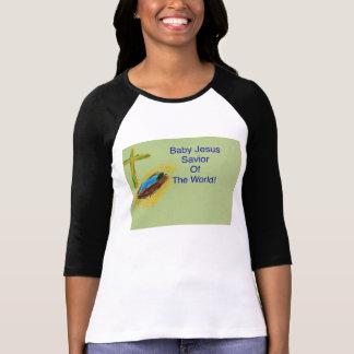 Baby Jesus Savior of the World Women's Shirt