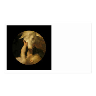 Baby Jesus Touches Face of Lamb Double-Sided Standard Business Cards (Pack Of 100)