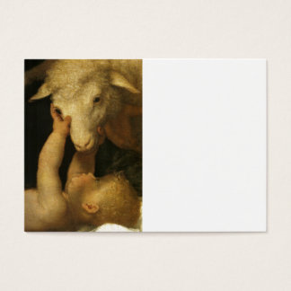 Baby Jesus Touches Lamb Business Card