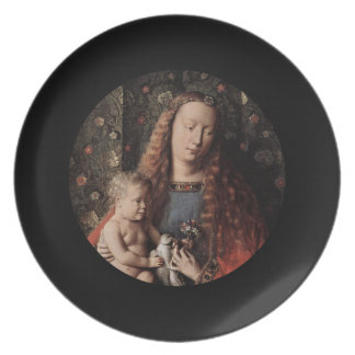 Baby Jesus Touching Dove Melamine Plate
