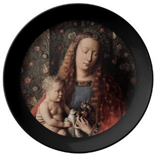 Baby Jesus Touching Dove Plate