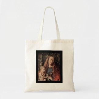 Baby Jesus Touching Dove Tote Bag