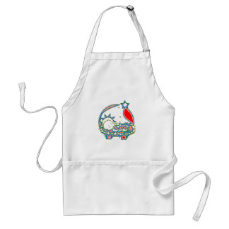 Baby Jesus under a star Adult Apron