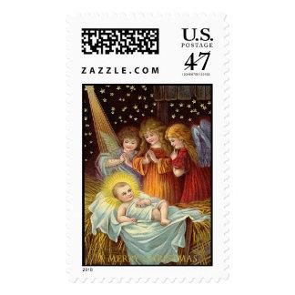 Baby Jesus Vintage Christmas Stamps