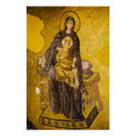 Baby Jesus with Mary Byzantine Mosaic Poster