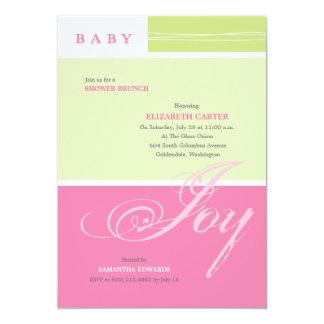 Baby Joy Girl Custom Baby Shower Invitation