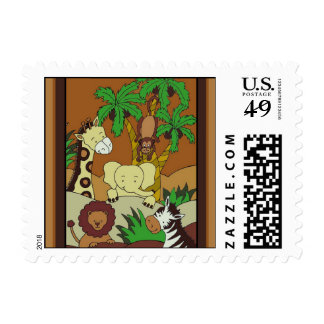 Baby Jungle 10 Small Stamps