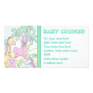 Baby Jungle 13 Baby Shower Card