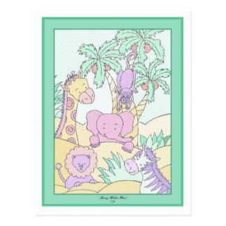 Baby Jungle 13 Baby Shower Postcard