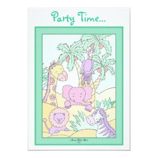 Baby Jungle 13 5x7 Paper Invitation Card