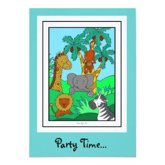 Baby Jungle 1 5x7 Paper Invitation Card