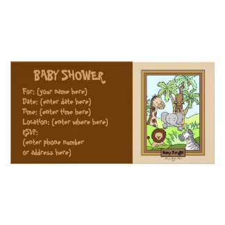 Baby Jungle 20 Baby Shower Card