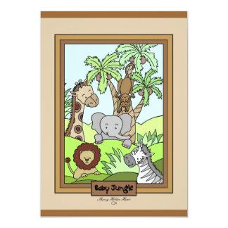 Baby Jungle 20 5x7 Paper Invitation Card