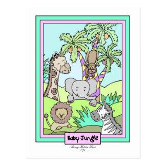Baby Jungle 25-Baby Shower Invitation - Customized Postcard