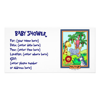 Baby Jungle 28 Baby Shower Card