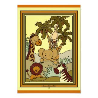 Baby Jungle 29 5x7 Paper Invitation Card