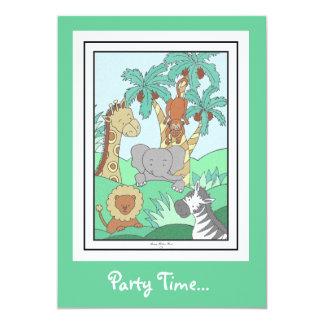 Baby Jungle 2 5x7 Paper Invitation Card