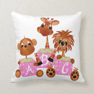 Baby Jungle Animals A-B-C Pillow