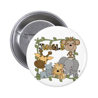 Baby Jungle Animals Tshirts and Gifts 2 Inch Round Button