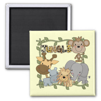 Baby Jungle Animals Tshirts and Gifts 2 Inch Square Magnet