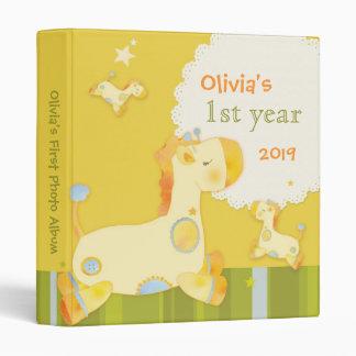 Baby Jungle Giraffe Baby s First Year Photo Album Vinyl Binder