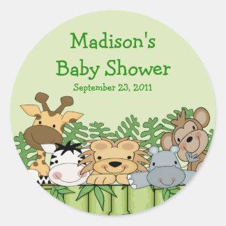 Baby Jungle Safari Baby Shower Sticker