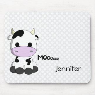 Baby kawaii cow cartoon customizable girls mouse pad