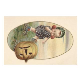 Baby Kicking Jack O' Lantern Pumpkin Photo Print
