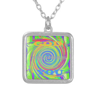 Baby Kids God Bless You..png Square Pendant Necklace