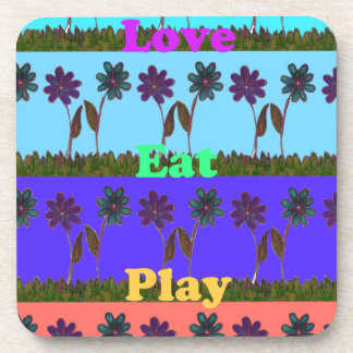 Baby kids love play colors.png beverage coaster